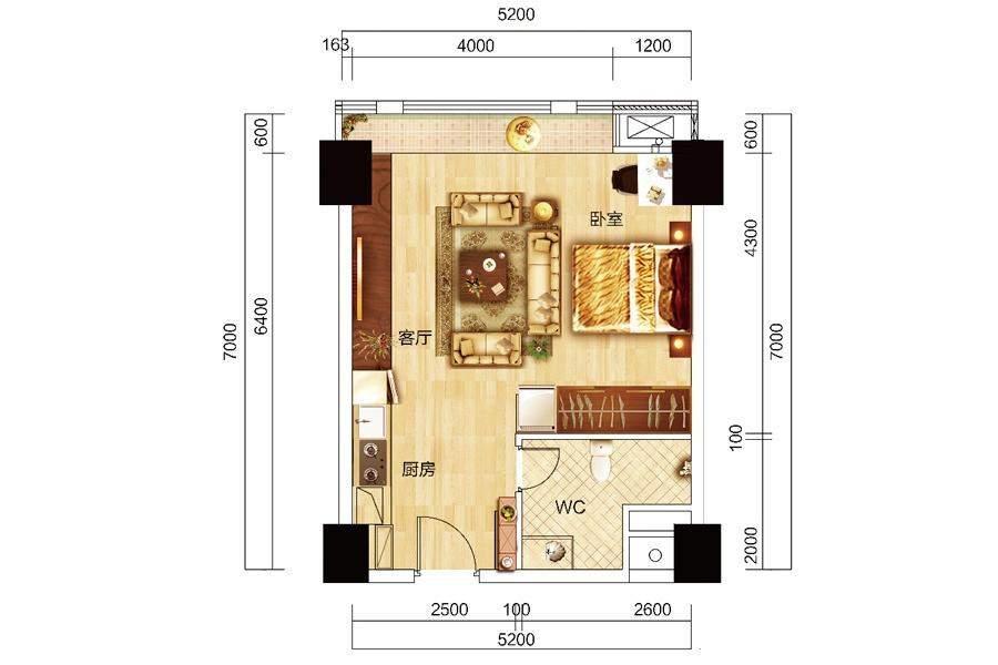 众东国际4号房户型