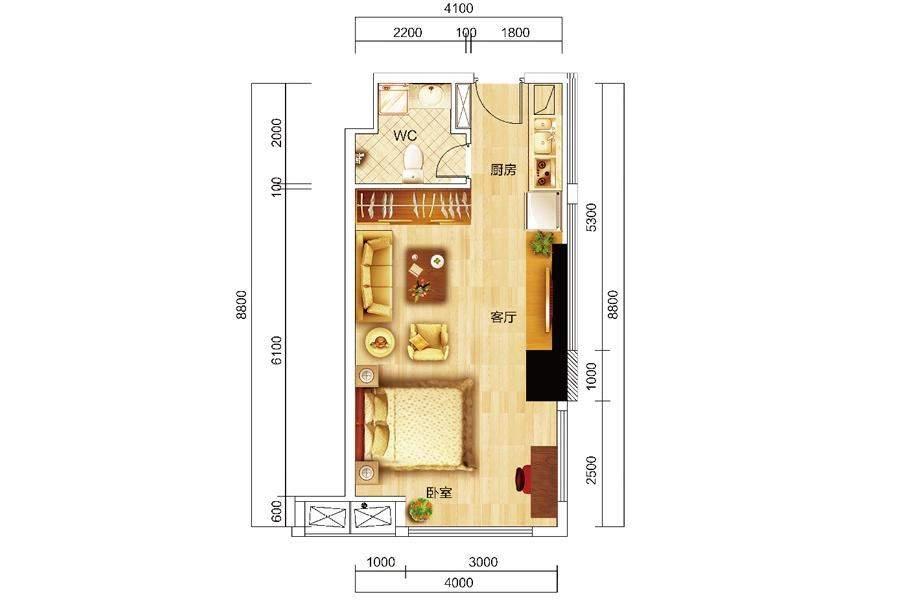 众东国际14、15、17、23、24号房户型