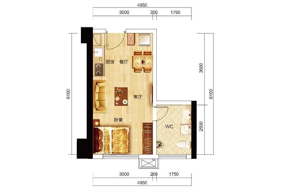 众东国际16号房户型