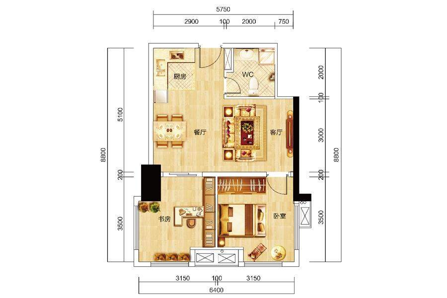 众东国际21号房户型