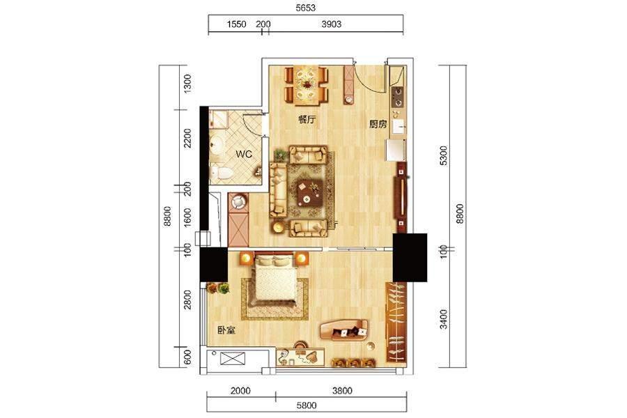 众东国际22号房户型