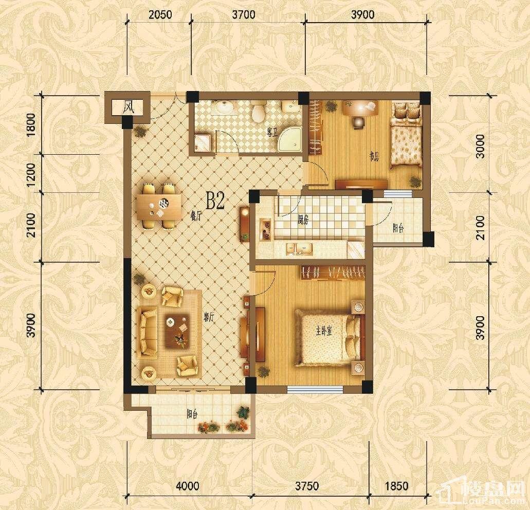 滨江1号户B2型图