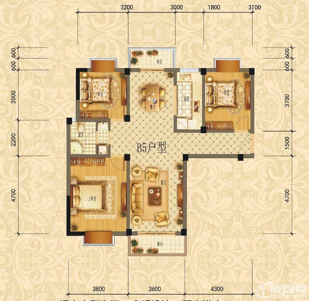 滨江1号B5户型图