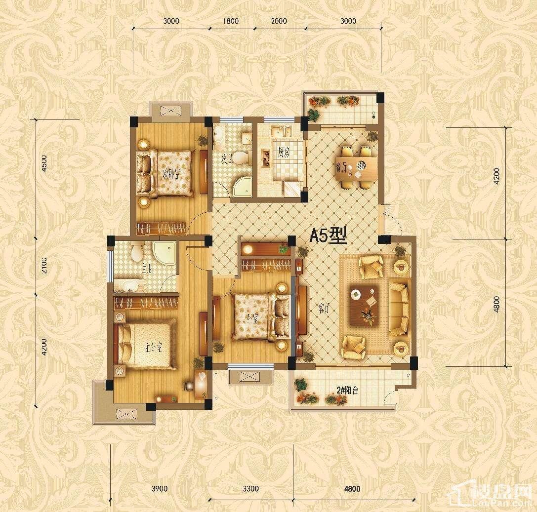 滨江1号A5户型图