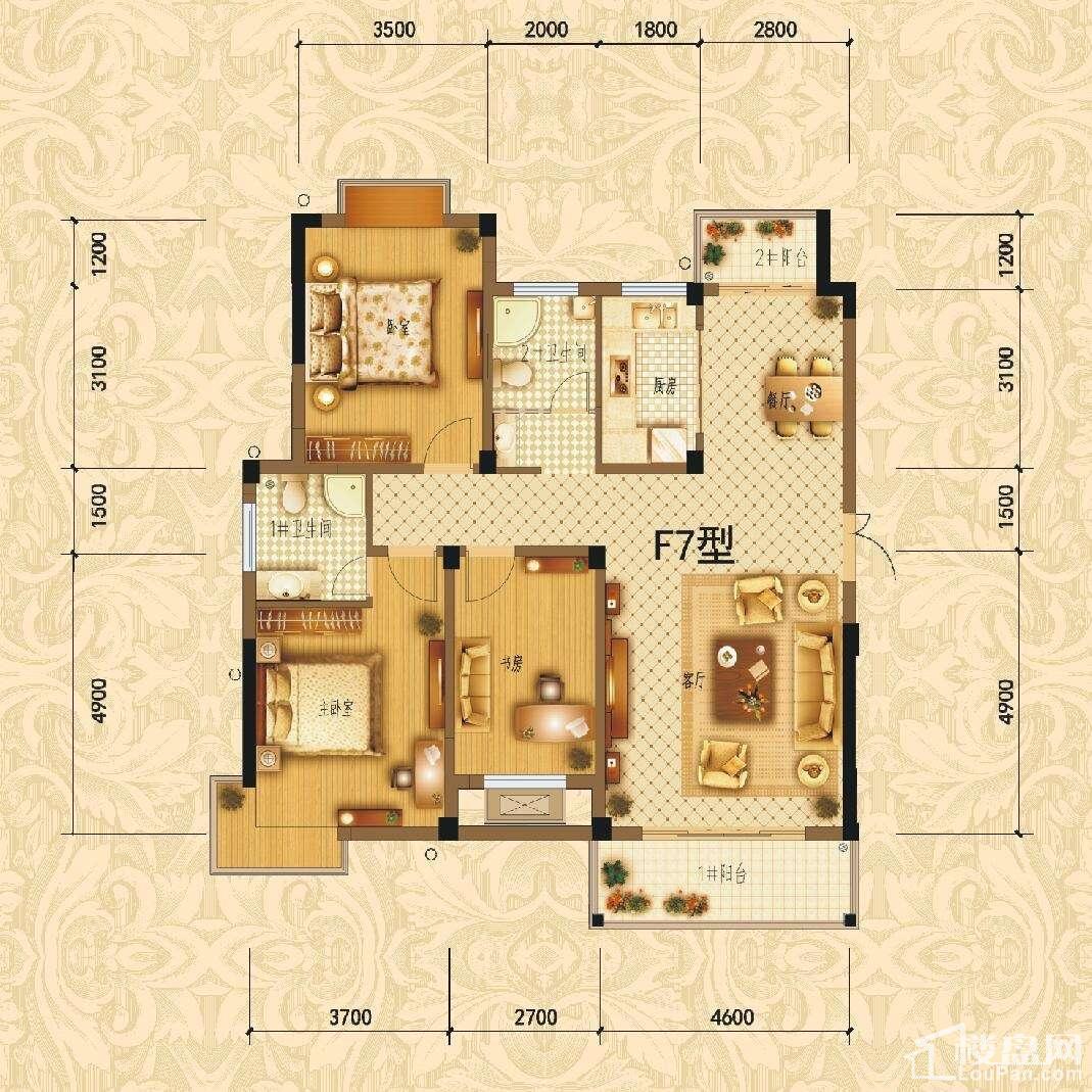 滨江1号F7户型图