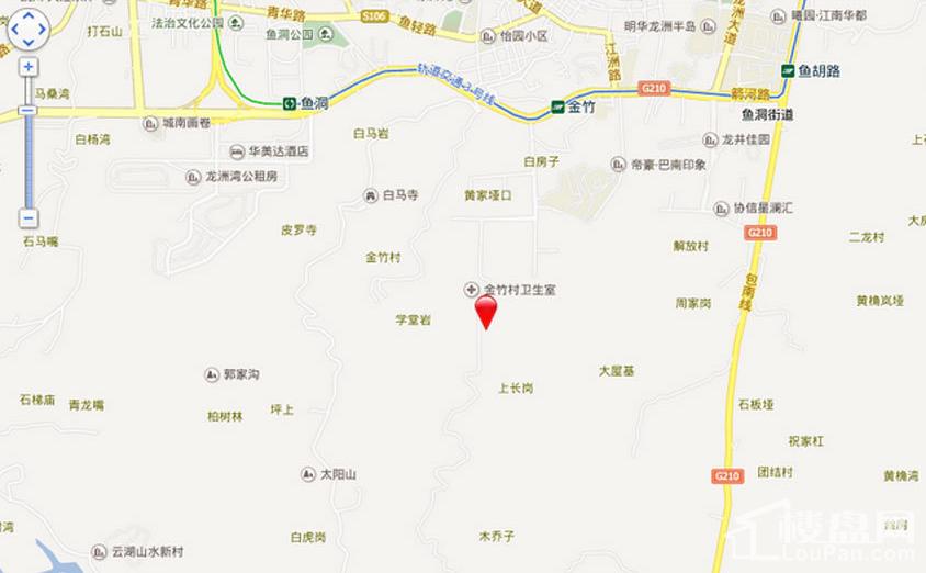 新鸥鹏教育城(巴南)位置图