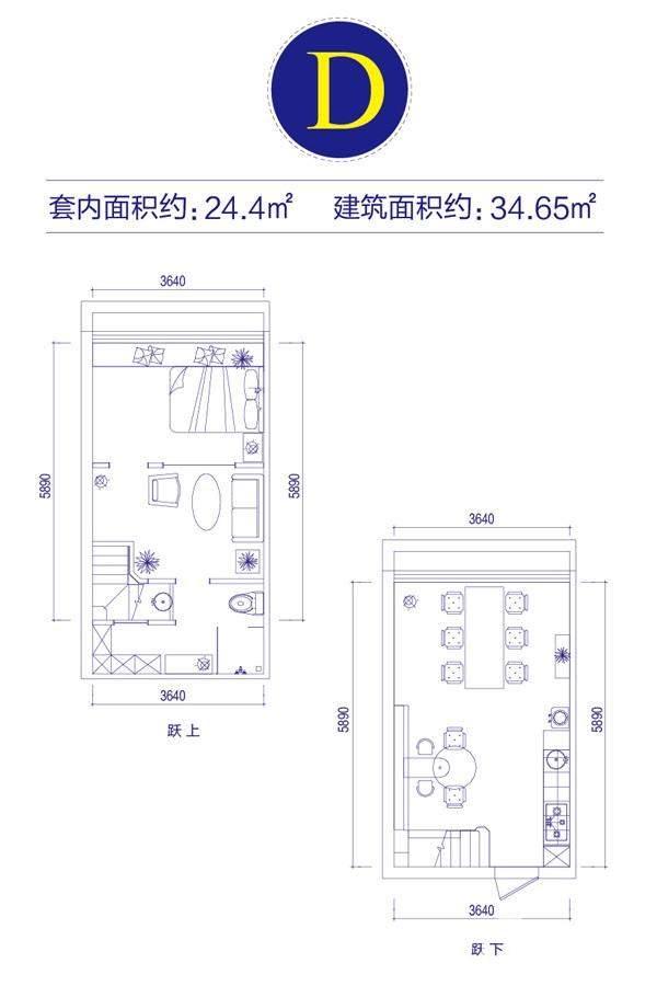 富邦金玖一期loft公寓标准层D户型