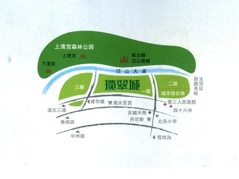 揽翠城位置图