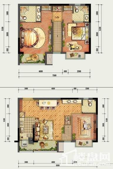 国盛园墅户型图