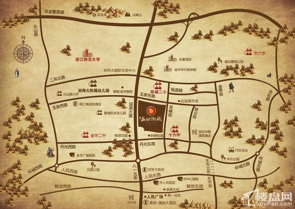 嘉恒盛世珑城位置图