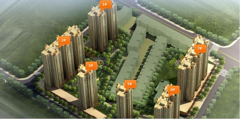 中弘·卓越城效果图