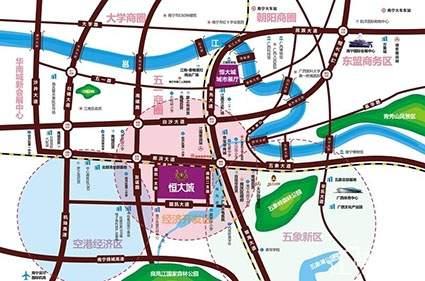 恒大城位置图