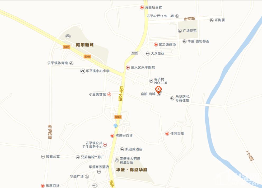 盛凯尚城位置图