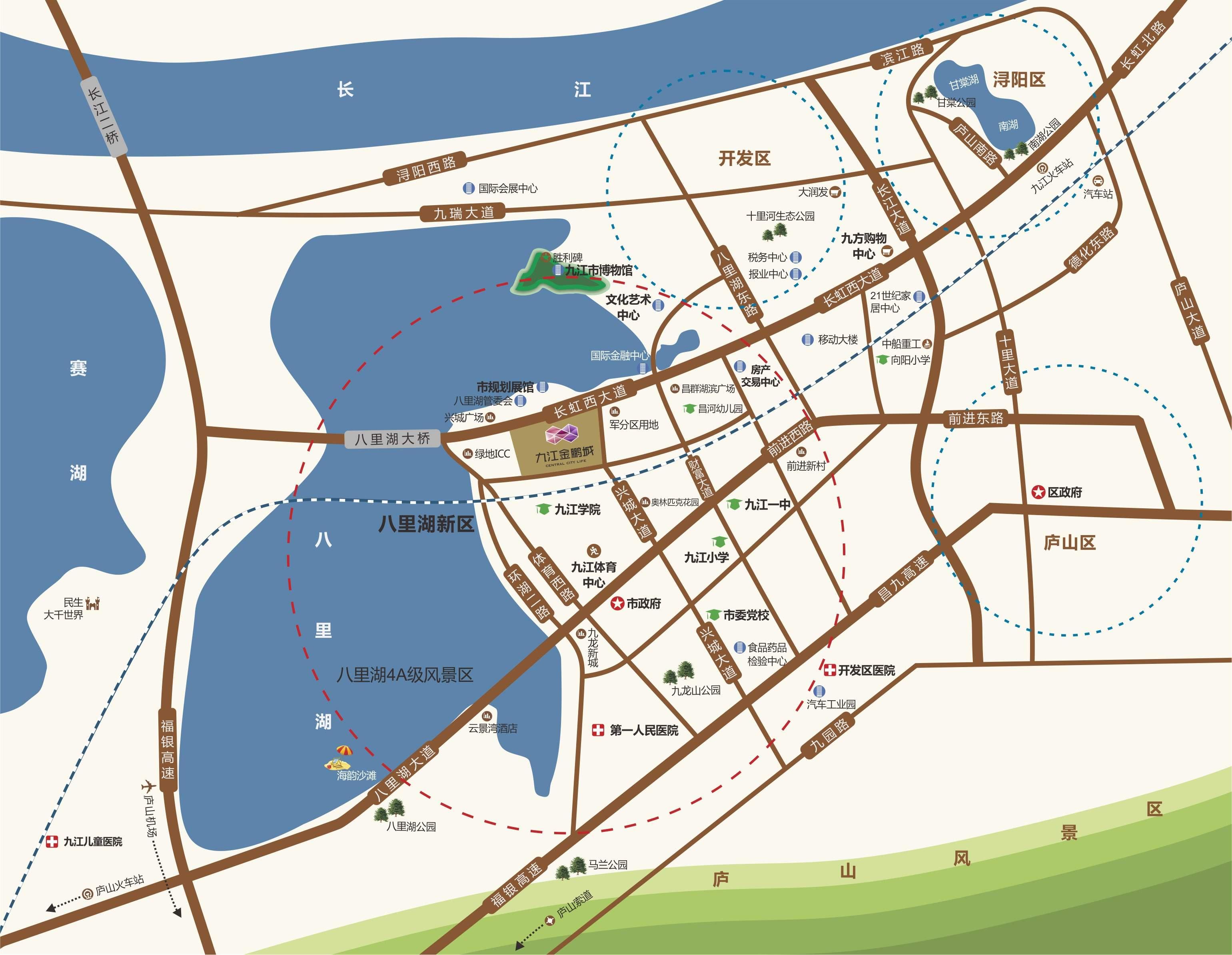 九江金鹏城位置图
