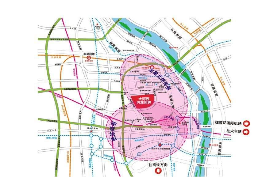 大河西汽车世界位置图