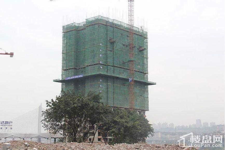 信达滨江蓝庭一期高层3号楼工程进度