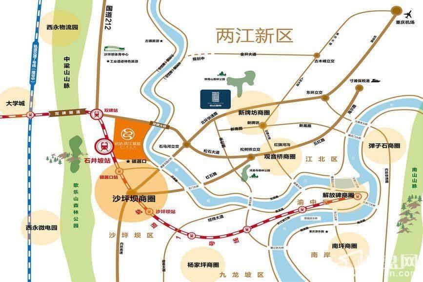 信达滨江蓝庭区位图