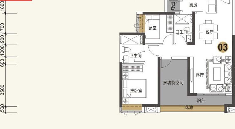 三水帝景湾户型图