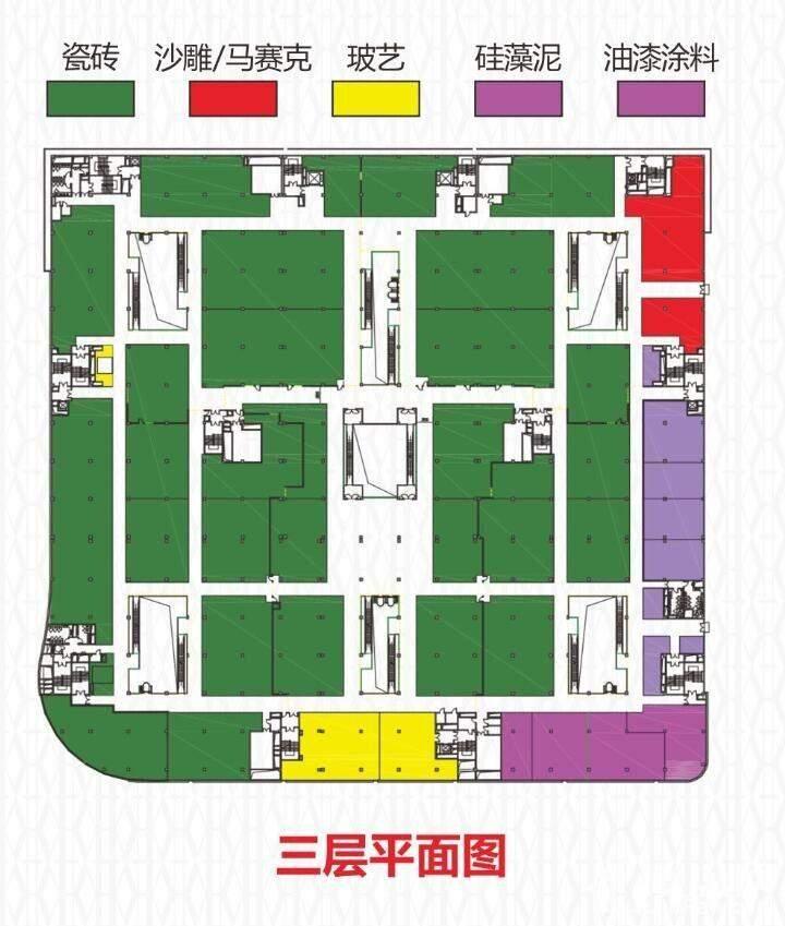 建材城三层平面图