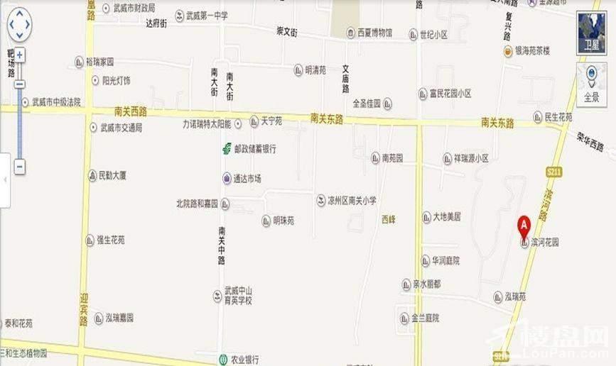 滨河花园位置图