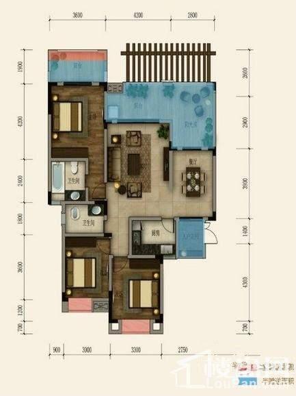一期洋房18号楼第三层套内