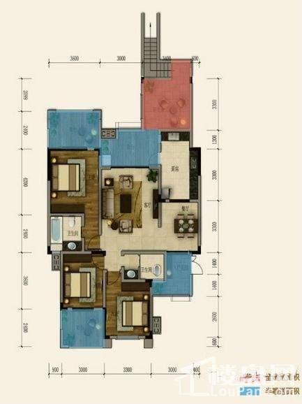 一期洋房19号楼第二层套内