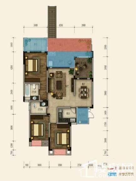 一期洋房18号楼第二层套内
