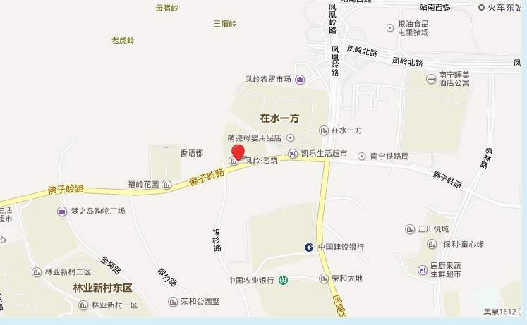 吉祥凤景湾位置图