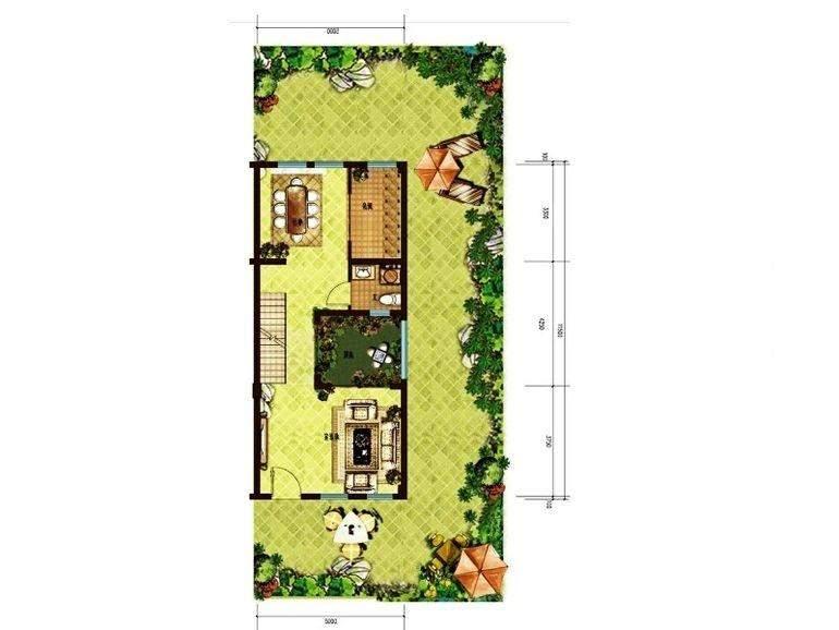 一期联排别墅A户型地上二层