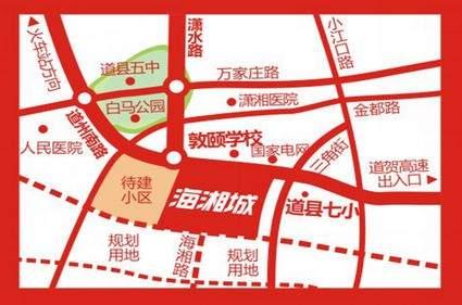 海湘城位置图