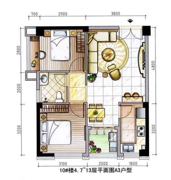 10号楼公馆SOHO户型图