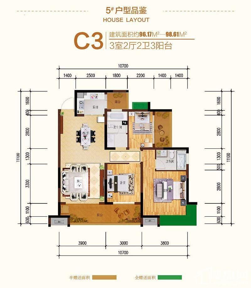 1#C1户型