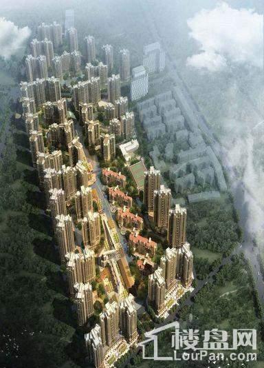 中国铁建·东来尚城鸟瞰图
