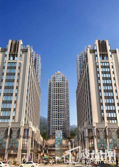 沸城国际中心广场沿街透视图