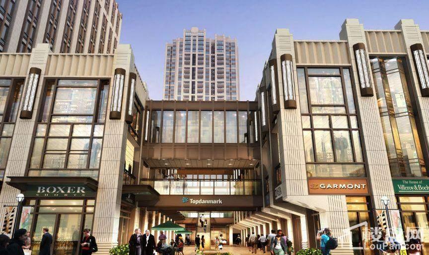 沸城国际步行街入口透视图