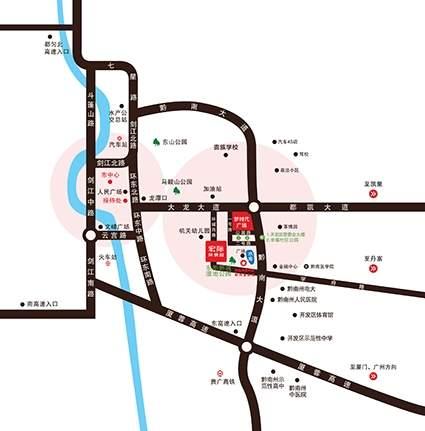 宏际·风情园位置图