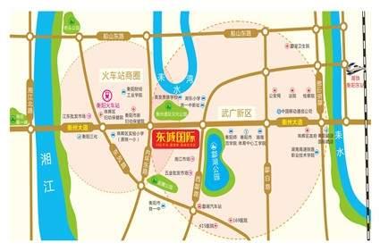 东城国际位置图