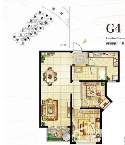 1号楼G4户型【在售】