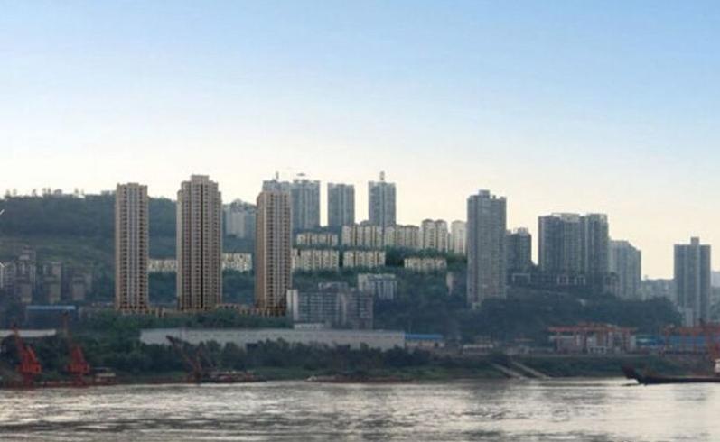 志龙观江嶺实景图