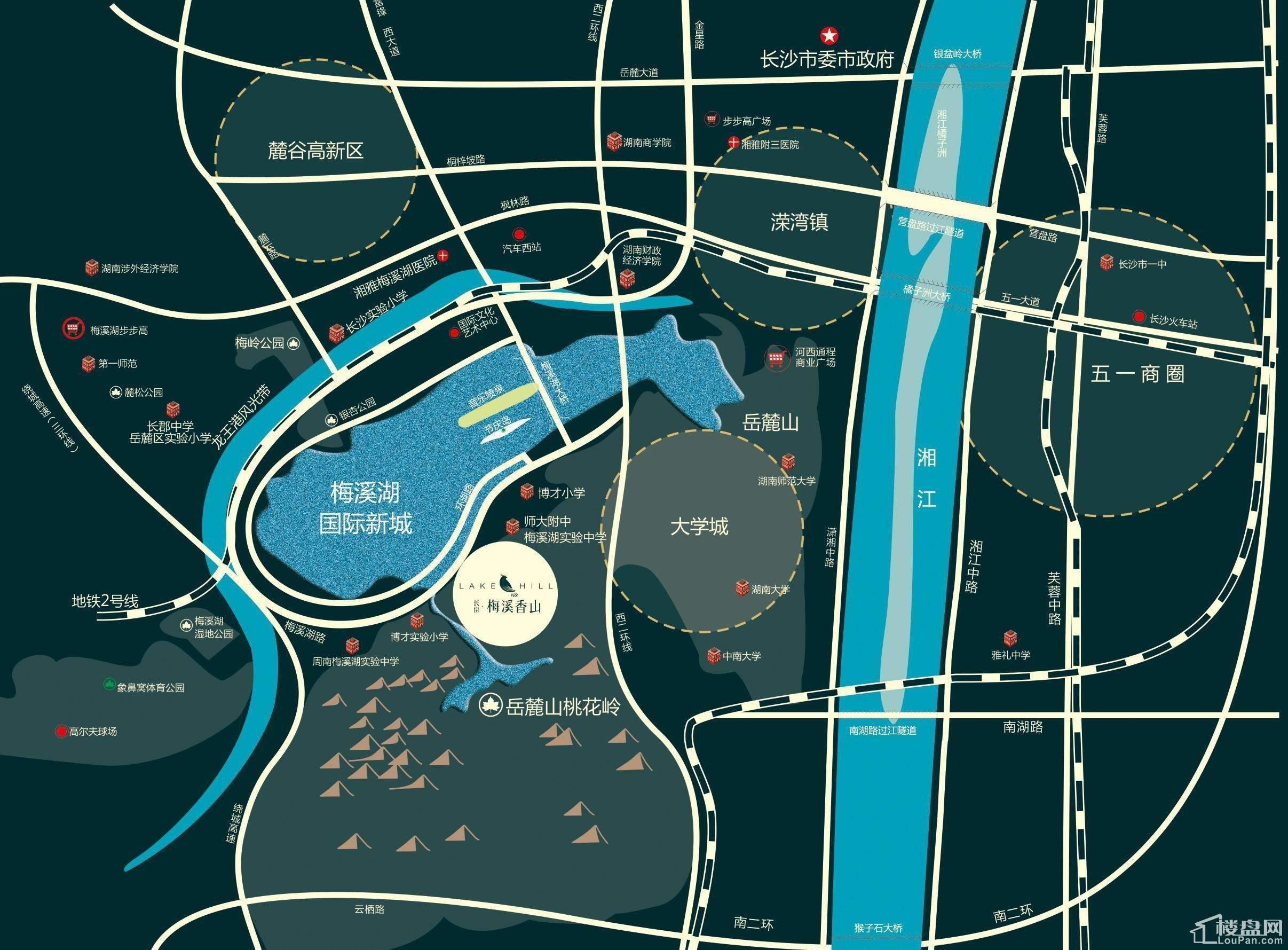 长房梅溪香山位置图