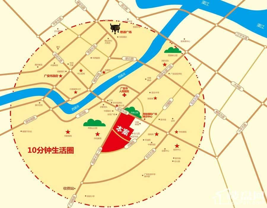 广安明发国际广场位置图