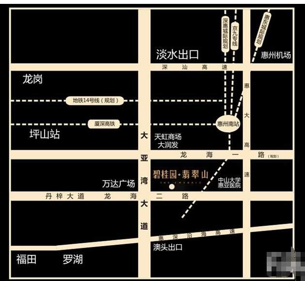 碧桂园·翡翠山位置图