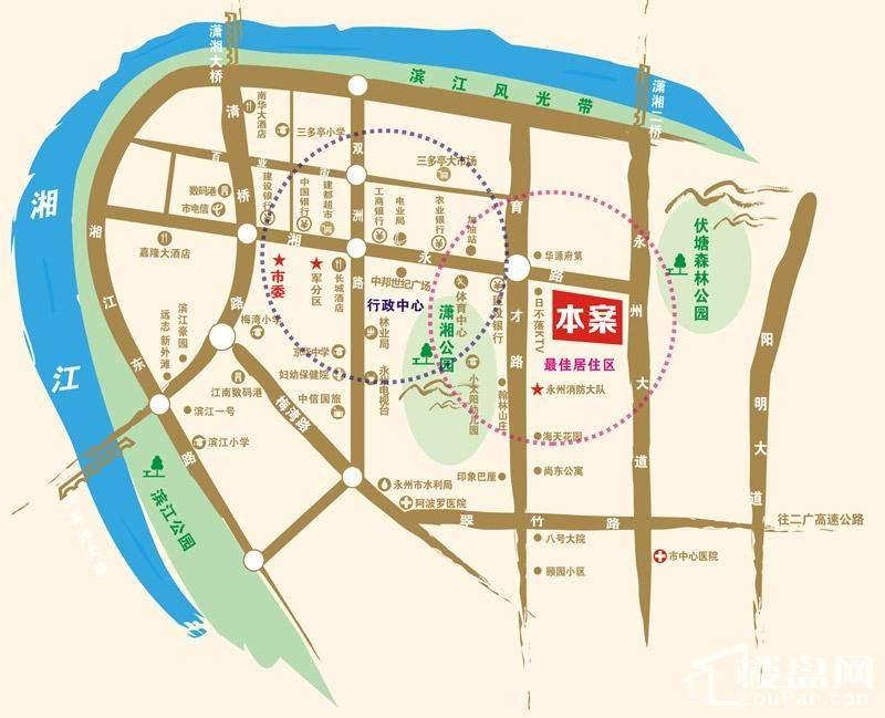 湘永名邸位置图