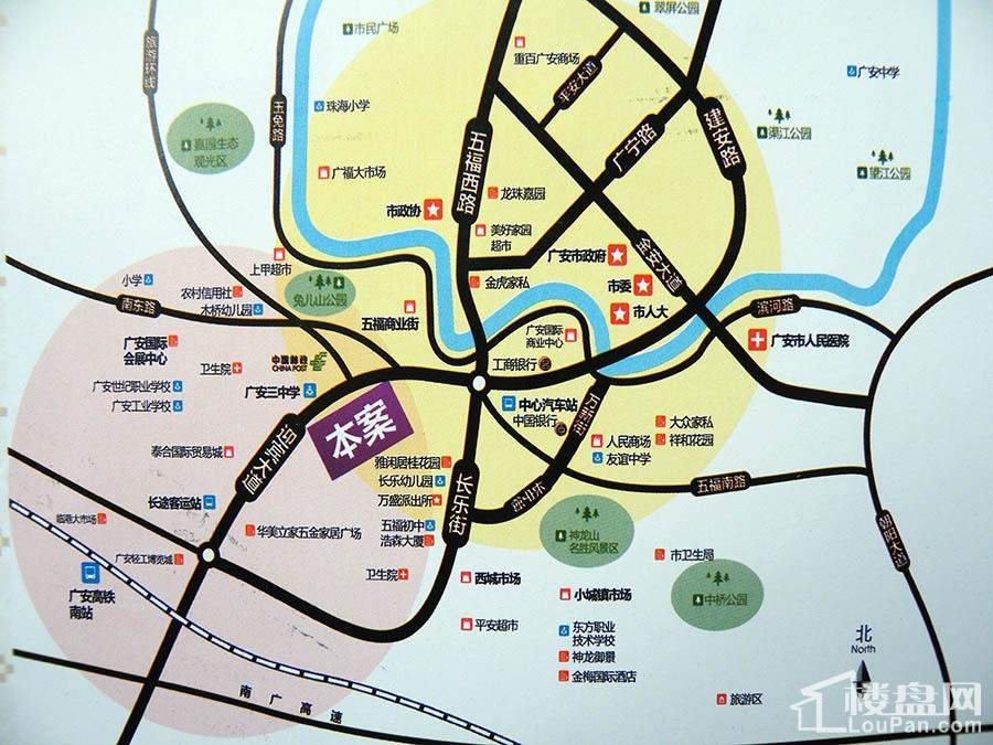 广高新城位置图