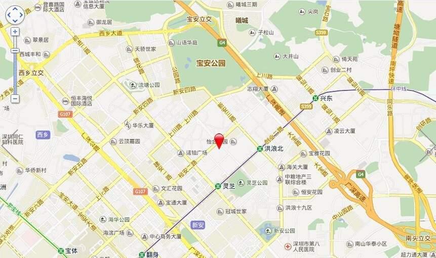 华联·城市全景位置图
