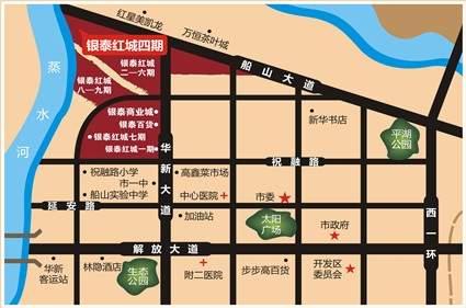 银泰红城四期位置图