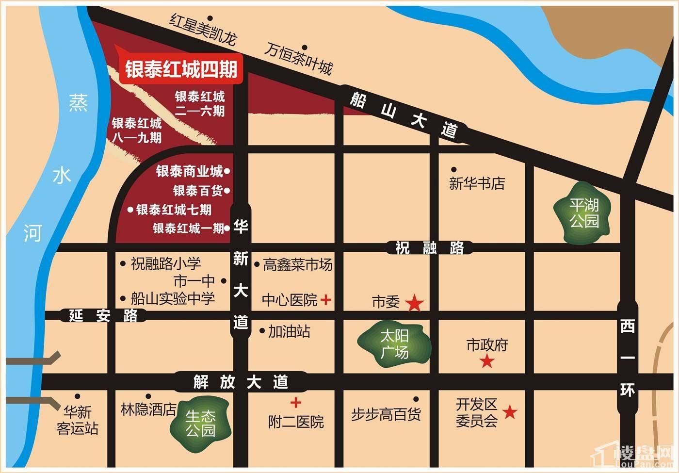 银泰红城4期位置图