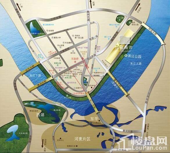 保利达·江湾南岸 位置图