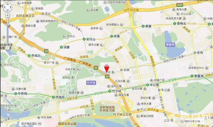 宝能公馆·V-HOUSE位置图