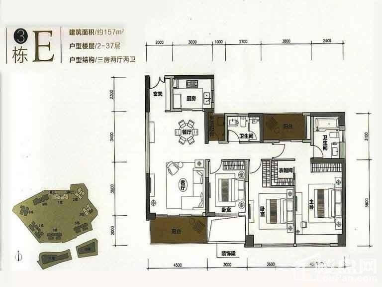 3栋E户型(2-37层)【售完】